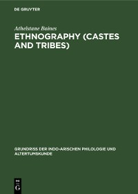 Cover Ethnography (Castes and Tribes)