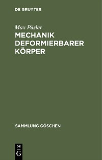 Cover Mechanik deformierbarer Körper
