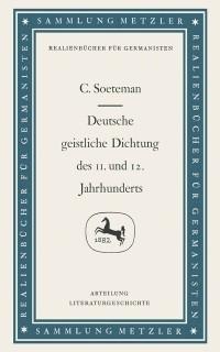 Cover Deutsche geistliche Dichtung des 11. und 12. Jahrhunderts