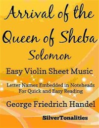 Cover Arrival of the Queen of Sheba Solomon Easy Violin Sheet Music