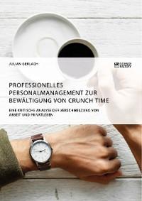 Cover Professionelles Personalmanagement zur Bewältigung von Crunch Time. Eine kritische Analyse der Verschmelzung von Arbeit und Privatleben