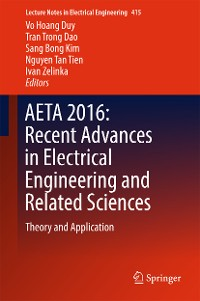 Cover AETA 2016: Recent Advances in Electrical Engineering and Related Sciences