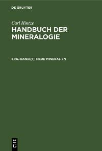 Cover Neue Mineralien