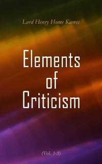 Cover Elements of Criticism (Vol. 1-3)