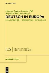 Cover Deutsch in Europa