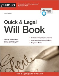Cover Quick & Legal Will Book