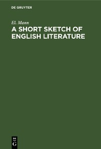 Cover A Short Sketch of English Literature