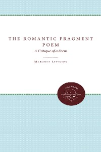 Cover The Romantic Fragment Poem