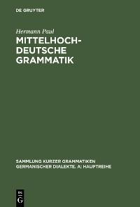 Cover Mittelhochdeutsche Grammatik