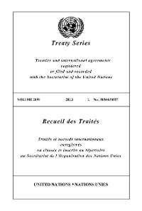 Cover Treaty Series 2899/Recueil des Traités 2899