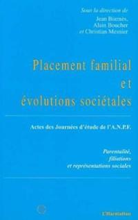 Cover Placement familial et evolutions societales
