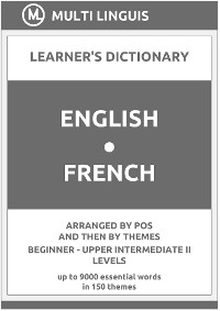 Cover English-French (the PoS-Theme-Arranged Learner's Dictionary, Steps 1 - 6)