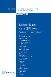 Cover Jurisprudence de la CJUE 2015
