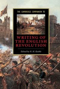Cover Cambridge Companion to Writing of the English Revolution