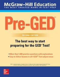 Cover McGraw-Hill Education Pre-GED with Downloadable Tests, Second Edition