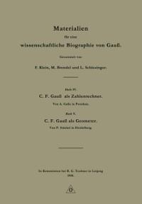 Cover Materialien fur eine wissenschaftliche Biographie von Gau