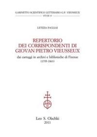 Cover Repertorio dei corrispondenti di Giovan Pietro Vieusseux, dai carteggi in archivi e biblioteche di Firenze.  (1795-1863).