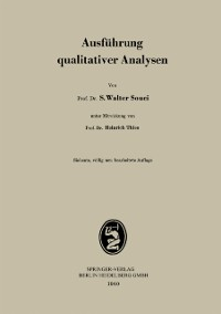 Cover Ausfuhrung qualitativer Analysen