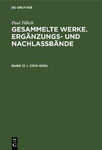 Cover I. (1919–1920)