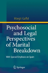 Cover Psychosocial and Legal Perspectives of Marital Breakdown