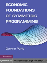 Cover Economic Foundations of Symmetric Programming