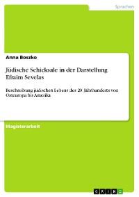 Cover Jüdische Schicksale in der Darstellung Efraim Sevelas