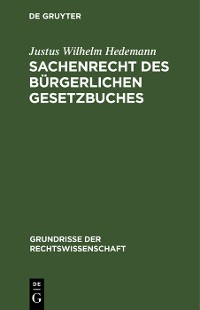 Cover Sachenrecht des Bürgerlichen Gesetzbuches