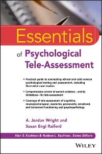 Cover Essentials of Psychological Tele-Assessment
