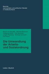 Cover Die Umwandlung der Arbeits- und Sozialordnung