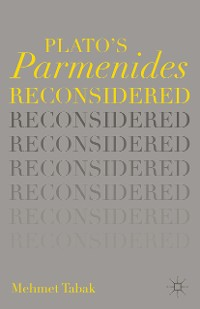 Cover Plato's Parmenides Reconsidered