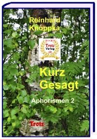 Cover kurz gesagt: Aphorismen 2