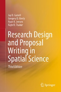 Cover Research Design and Proposal Writing in Spatial Science