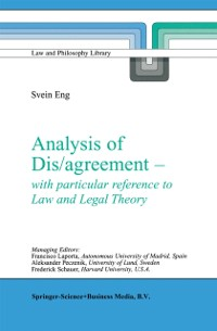 Cover Analysis of Dis/agreement - with particular reference to Law and Legal Theory