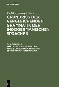 Cover Vergleichende Syntax der indogermanische Sprachen, Teil 3