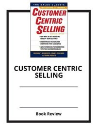 Cover Customer Centric Selling