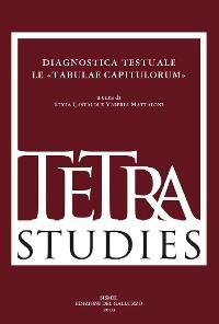 Cover Diagnostica testuale. Le «Tabulae capitulorum»