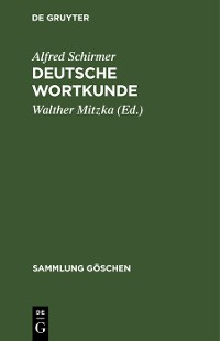 Cover Deutsche Wortkunde