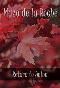 Cover Return to Jalna