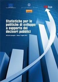 Cover Statistiche per le politiche di sviluppo a supporto dei decisori pubblici.