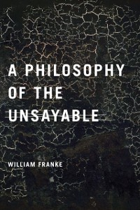 Cover Philosophy of the Unsayable