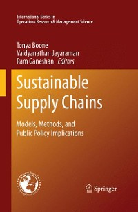 Cover Sustainable Supply Chains