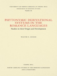 Cover Phytonymic Derivational Systems in the Romance Languages