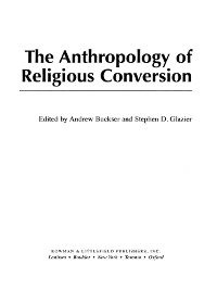 Cover The Anthropology of Religious Conversion