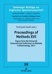 Cover Proceedings of Methods XVI