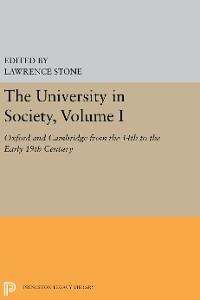Cover The University in Society, Volume I