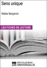 Cover Sens unique de Walter Benjamin