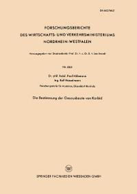 Cover Die Bestimmung der Gasausbeute von Karbid