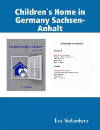 Cover Children`s Home in Germany Sachsen-Anhalt
