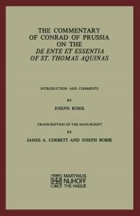 Cover Commentary of Conrad of Prussia on the De Ente et Essentia of St. Thomas Aquinas