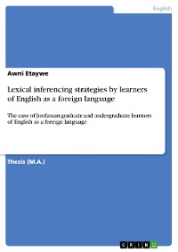 Cover Lexical inferencing strategies by learners of English as a foreign language